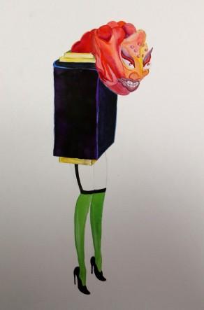 Lapeyre Lipstick Kaiju Art surreal Lipstick, Lipstick fashion drawing, Kaiju Lipstick