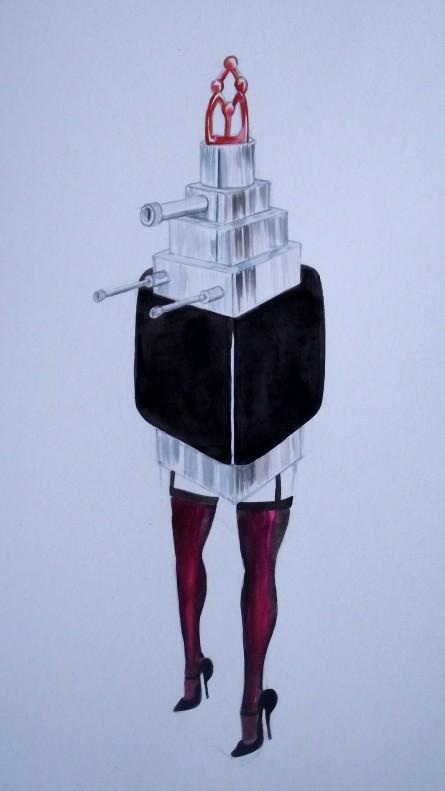 Lapeyre Lipstick Mecha Art surreal Lipstick, Lipstick fashion drawing, Kaiju Lipstick lipstick mecha