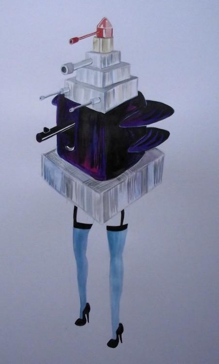 Lapeyre Lipstick Mecha Art surreal Lipstick, Lipstick fashion drawing, Kaiju Lipsticklarge colour study