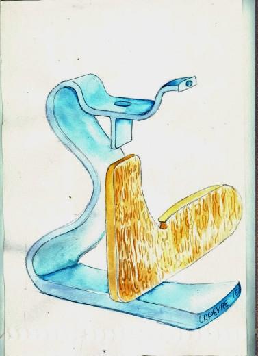 rough pencil sketch watercolour