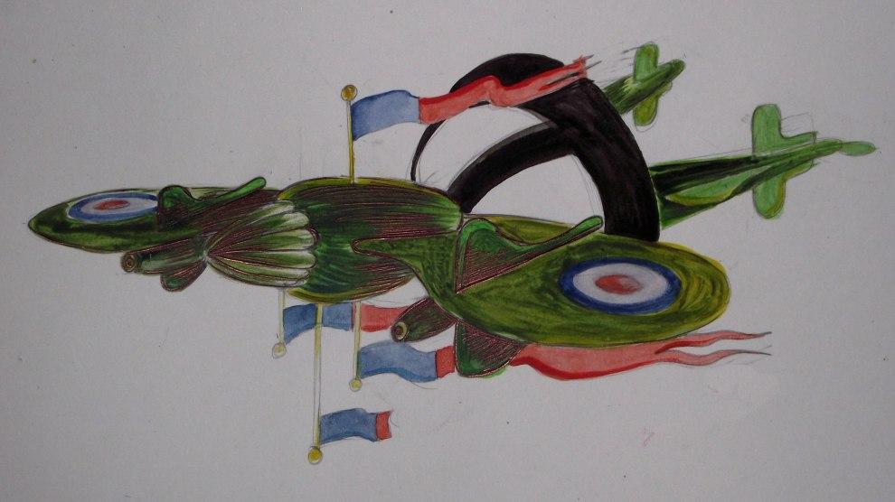 watercolour and biro